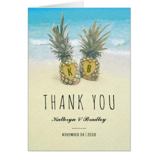 Huwelijk van het Strand van de ananas dankt het Kaart
