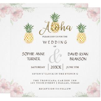 Huwelijk van het Strand van de Ananas van Aloha Kaart