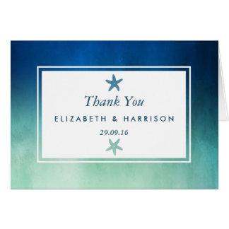 Huwelijk van het Strand van de Zeester van de Briefkaarten 0