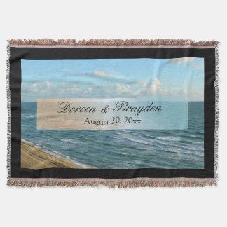 Huwelijk van het Strand van het zeegezicht het Deken