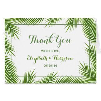 Huwelijk van het Strand van palmbladen dankt het Kaart