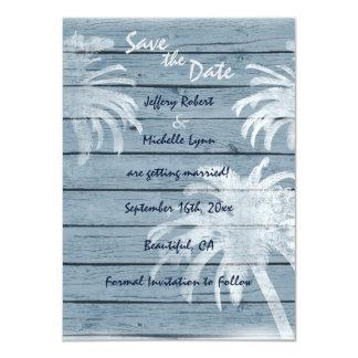 Huwelijk van het Strand van palmen nodigt het 11,4x15,9 Uitnodiging Kaart