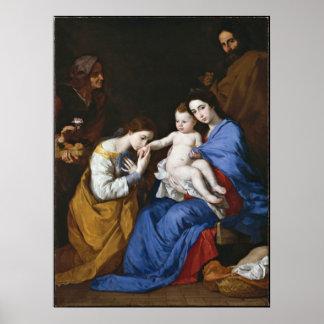 Huwelijk van St.Catherine door Jusepe DE Ribera Poster