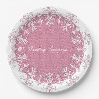 Huwelijk-viering-sjabloon-modieus-bord (c) papieren bordje
