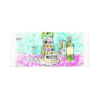 huwelijks cake canvas prints