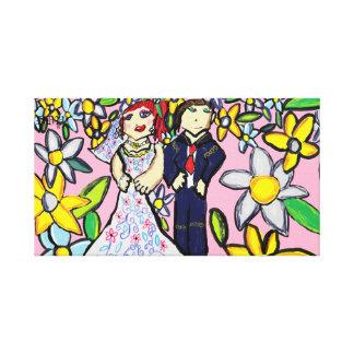 huwelijks kunst 2 canvas print