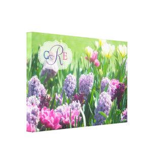 Hyacint van de Tulpen van de Tuin van de Lente van Canvas Afdruk