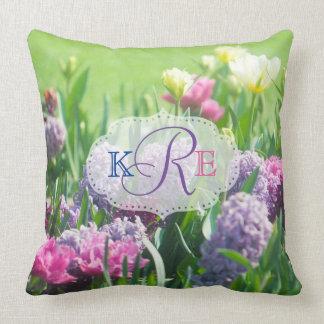 Hyacint van de Tulpen van de Tuin van de Lente van Kussen
