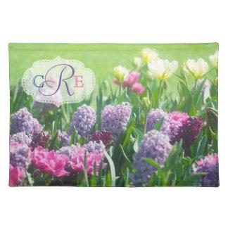 Hyacint van de Tulpen van de Tuin van de Lente van Placemat