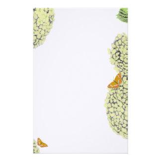 Hydrangea hortensia's en Vlinders Briefpapier