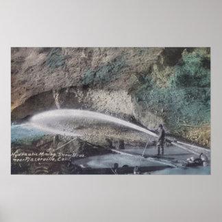 Hydraulische Mijnbouw ScenePlacerville, CA Poster