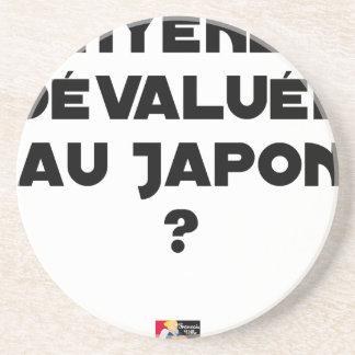 HYENA GEDEVALUEERD IN JAPAN? - Woordspelingen Zandsteen Onderzetter