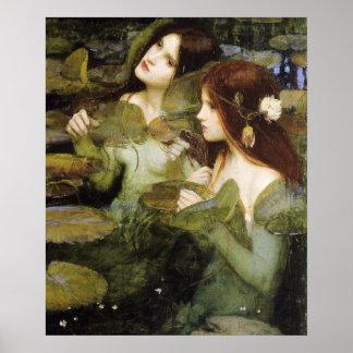 Hylas en het Poster van Nimfen door John W. Waterh