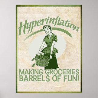 Hyperinflation Druk Poster