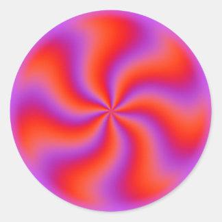 Hypnotic Spiraalvormige Grappige Neon van de Ronde Stickers