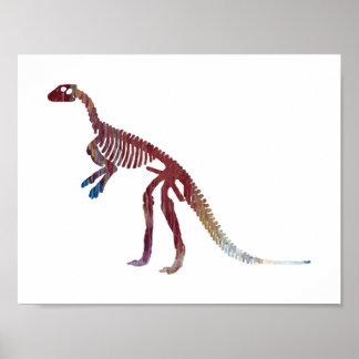 hypsilophodon skelet poster