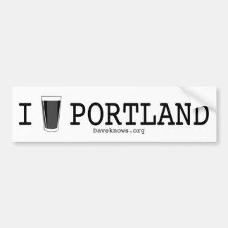 I Bier Portland Bumpersticker