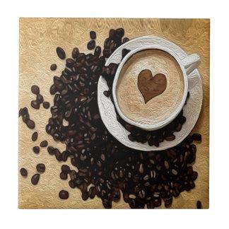 I de Koffie van het Hart Keramisch Tegeltje