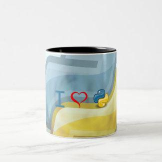 I de Python van het Hart Tweekleurige Koffiemok