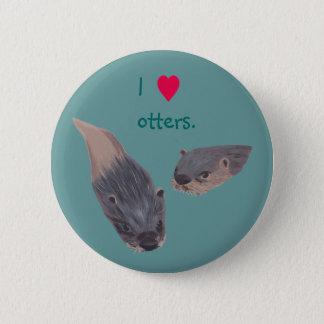 I de speld van hartotters op knopen ronde button 5,7 cm