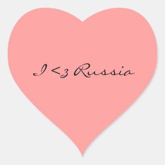 I de Sticker van Rusland van het Hart