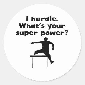 I de Super Macht van de Hindernis Ronde Sticker