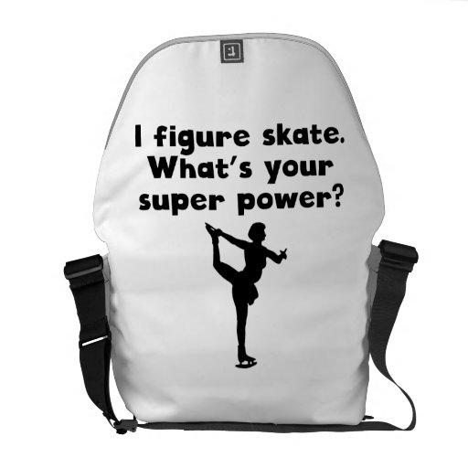 I de Super Macht van de Kunstschaats Messenger Bags
