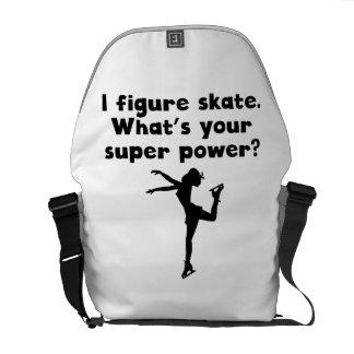 I de Super Macht van de Kunstschaats Messenger Bag