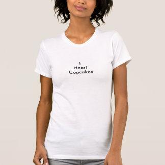 I de T-shirt van Cupcakes van het Hart