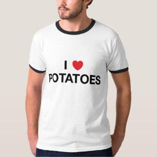 I de T-shirt van de AARDAPPELS van het HART