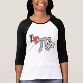 I de T-shirt van de Dag van het hart Pi - de Koele