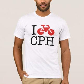 I de T-shirt van Kopenhagen van de Fiets