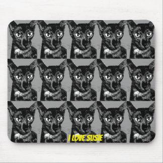 ~ I de Zwarte Oosterse Kat ~ ~ van de LIEFDE SUSIE Muismatten