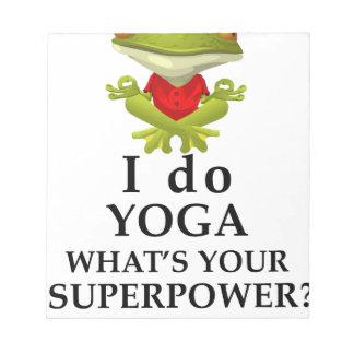 I do yoga welk s uw super macht notitieblok