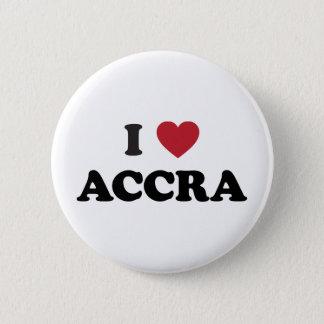 I Hart Accra Ghana Ronde Button 5,7 Cm