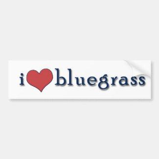 i hart bluegrass bumpersticker