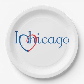 I Hart Chicago Papieren Bordjes