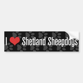 I (hart) de Herdershonden van Shetland Bumpersticker