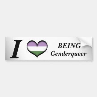 I Hart die Genderqueer zijn Bumpersticker