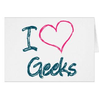I Hart Geeks Wenskaart