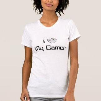 I Hart (Gevormd Controlemechanisme) Mijn Gamer T Shirt