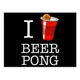 I Hart/het bier van de Liefde pong Briefkaart