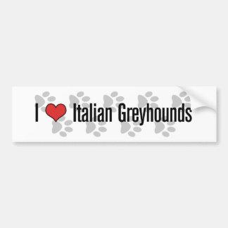 I (hart) Italiaanse Windhonden Bumperstickers