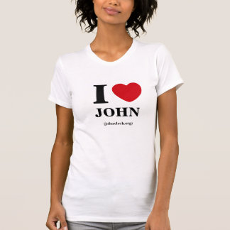 I Hart John, het T-shirt van Vrouwen