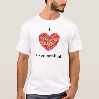 I hart kleurenblind t shirt