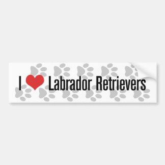 I (hart) Labradors Bumpersticker