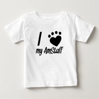 I Hart Mijn AmStaff Baby T Shirts