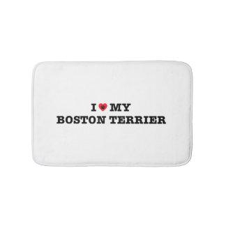 I Hart Mijn Badmat van Boston Terrier