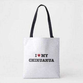 I Hart Mijn Canvas tas Chihuahua