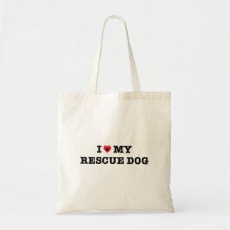 I Hart Mijn Canvas tas van de Hond van de Redding